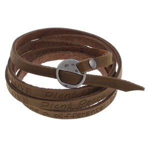 """Jewelry - Unique Leather """"LIVE IN UNITY"""" Wristt/Ankle"""